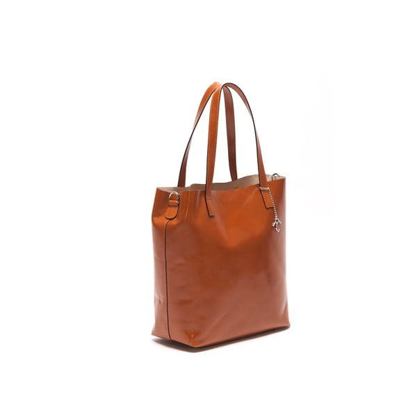 Kožená kabelka Broke 3001 Cognac