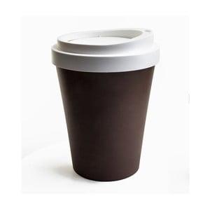Hnedo-biely odpadkový kôš Qualy&CO Coffee Bin