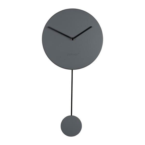 Sivé nástenné hodiny Zuiver Minimal