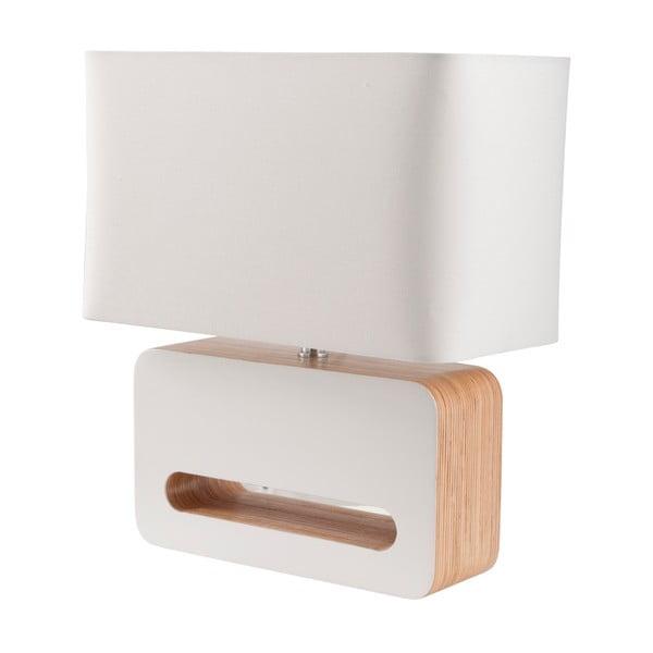 Biela stolová lampa Zuiver Wood