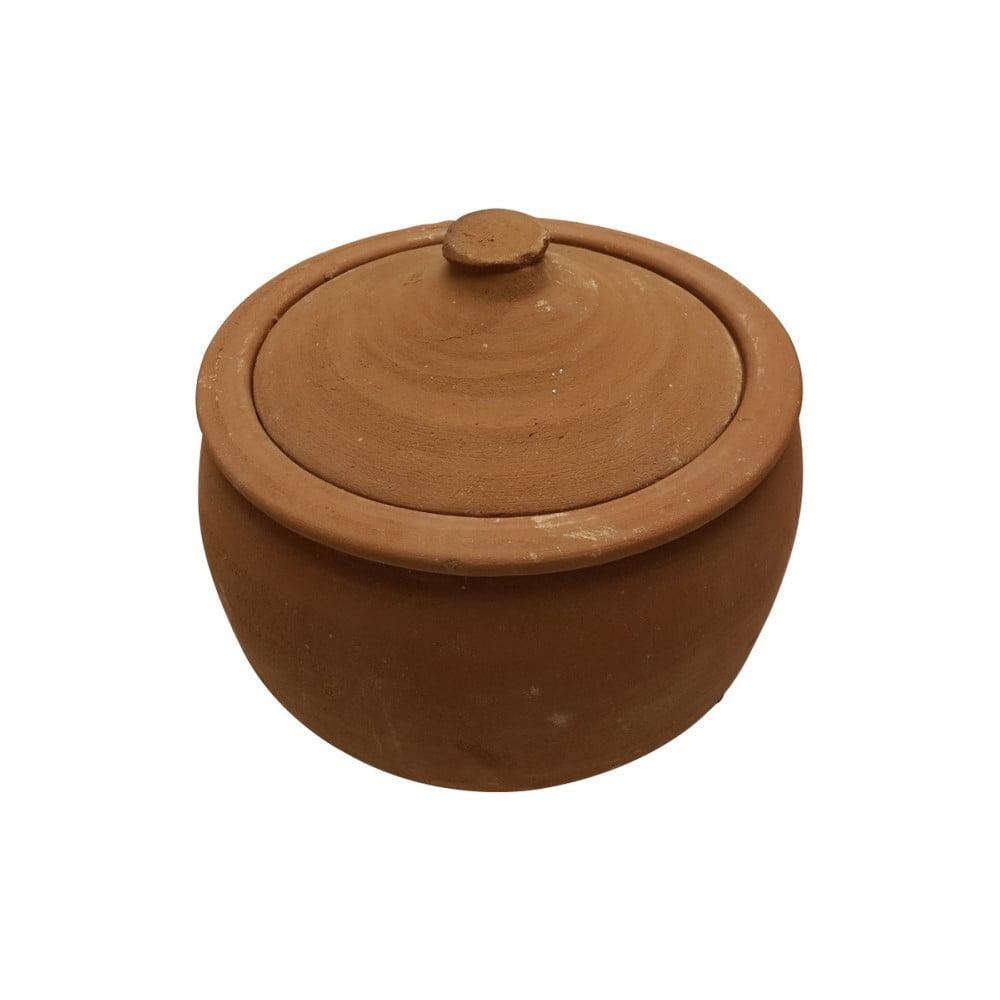Servírovací hrniec z pálenej hliny Tasev Ispir, objem 4 l