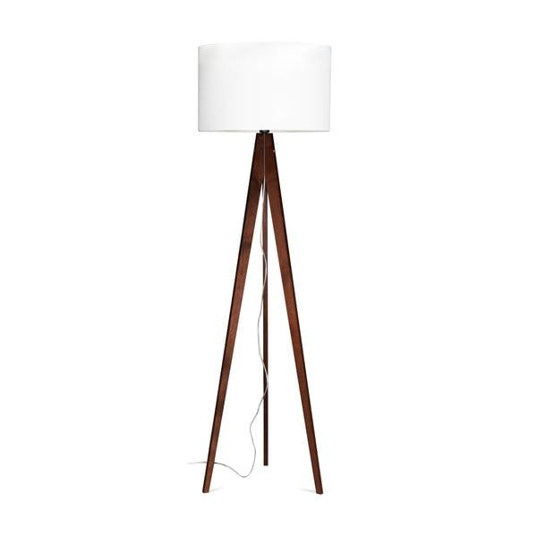Stojacia lampa Artist White/Brown, 125x42 cm