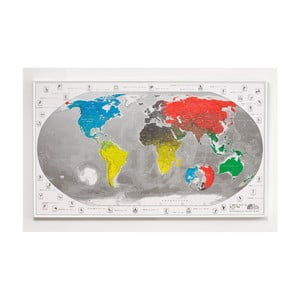 Magnetická mapa sveta The Future Mapping Company Commemorative World Map, 101 × 60 cm
