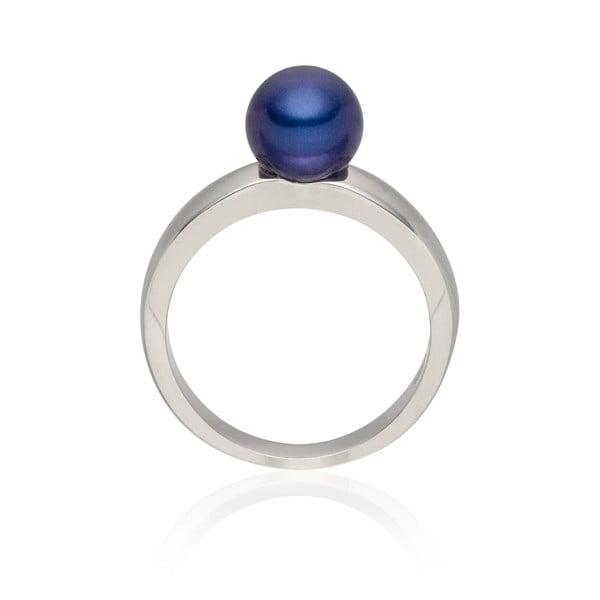 Perlový prsteň Jeanne Dark Blue, veľ. 58