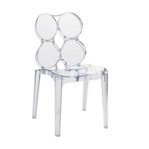 Transparentná stolička Circles
