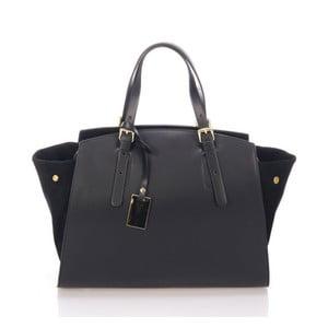 Čierna kožená kabelka Giulia Massari Ferrara