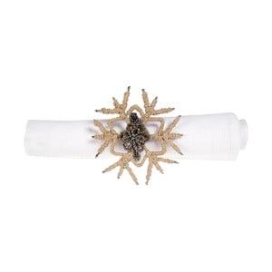 Sada 12 dekoratívnych krúžkov na obrúsky Côté Table Snowflake