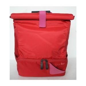 Veľký batoh na bicykel Tubí, červená/ružová