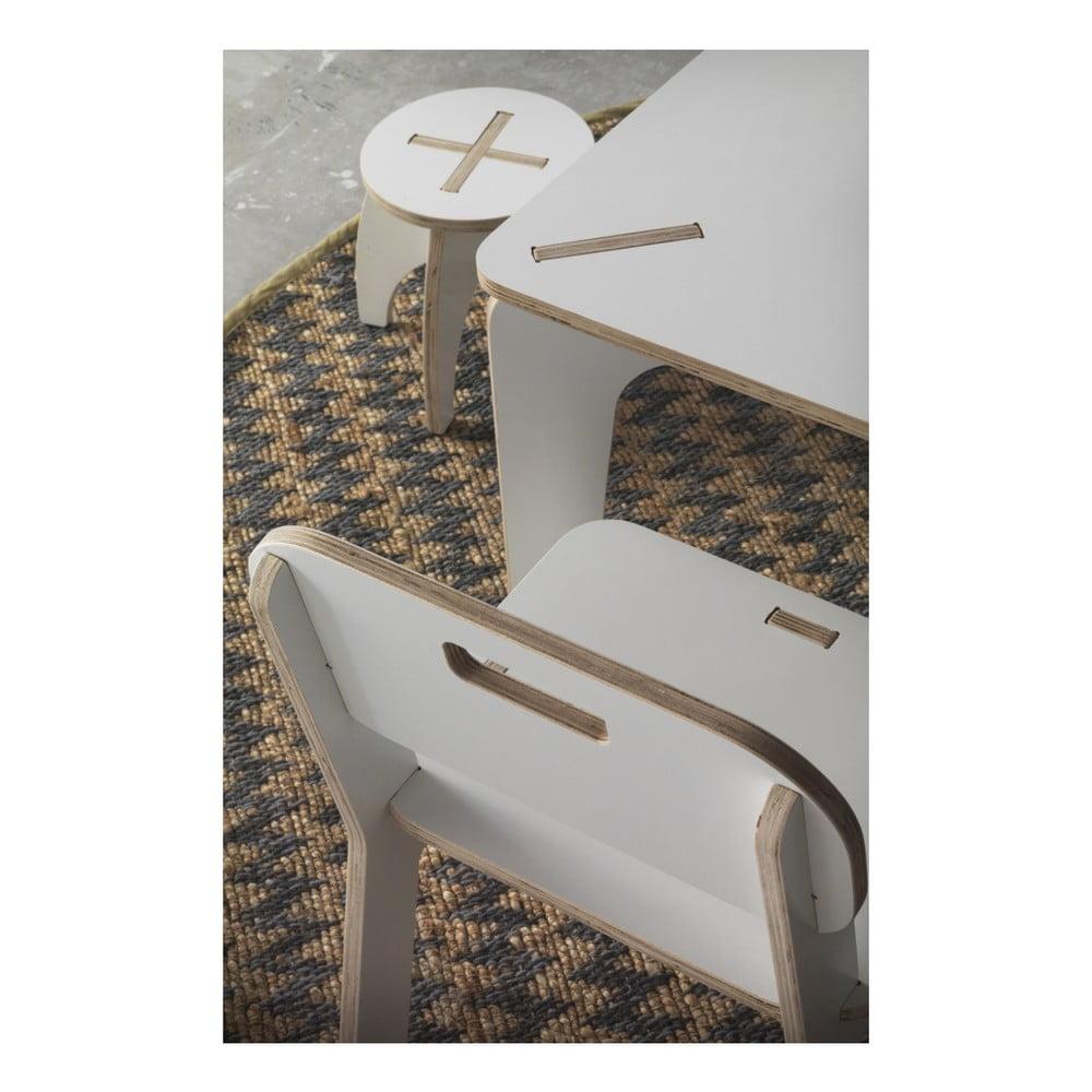 000402c25928 Biely detský stôl z preglejky Geese