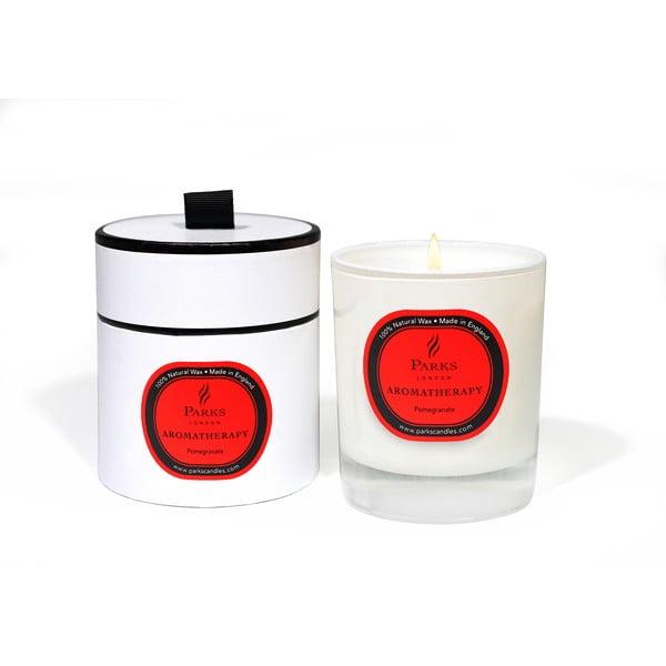 Sviečka s vôňou granátového jablka Parks Candles London Aromatherapy, 50hodín horenia
