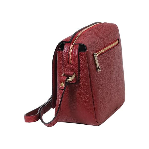 Červená kabelka z pravej kože Andrea Cardone Alessio