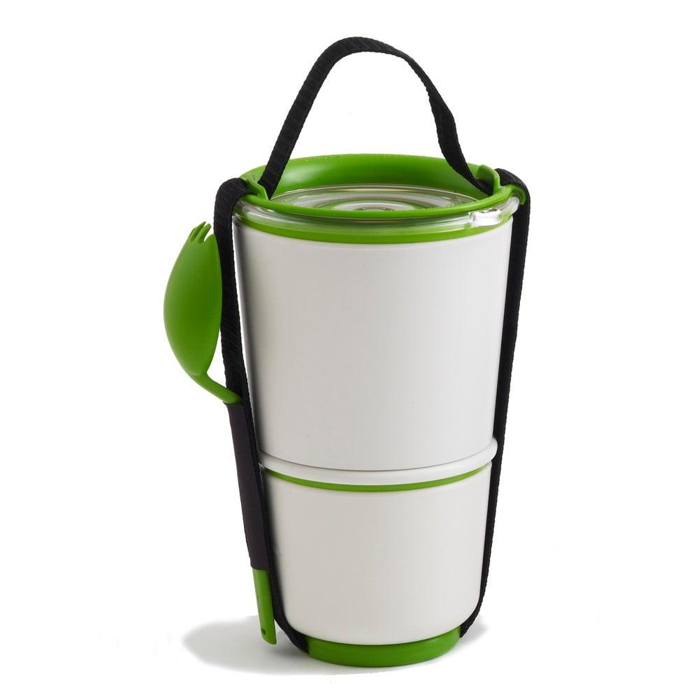 Desiatové misky Black Blum Lunch Pot, bielo-zelené