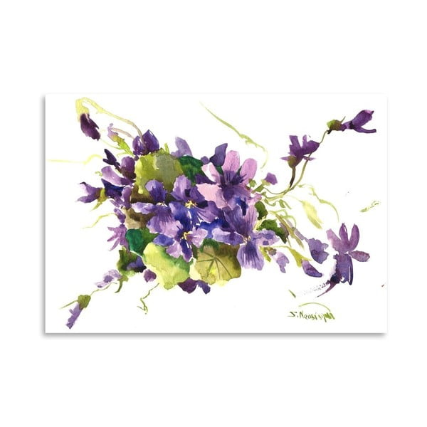 Plagát Violet Flowers od Suren Nersisyan