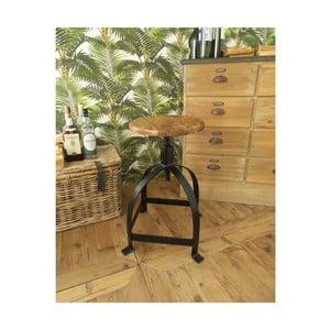 Stolička so sedadlom z agátového dreva Orchidea Milano Industrial