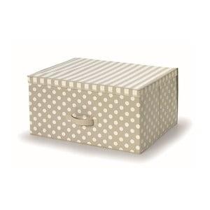 Béžový uložný box s vrchnákom Cosatto Trend, 45x60cm