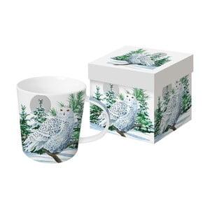 Porcelánový hrnček s vianočným motívom v darčekovom balení PPD Snow Owl, 350 ml