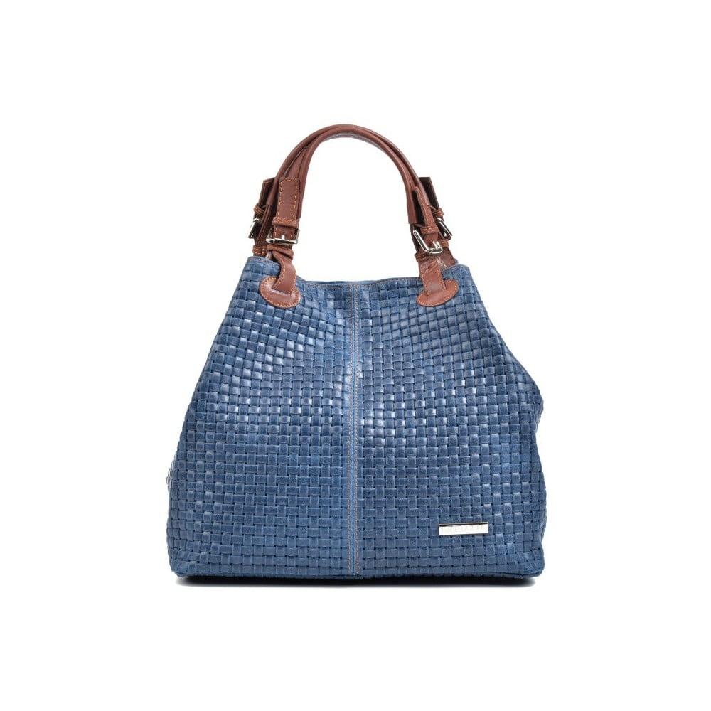 Modrá kožená kabelka Isabella Rhea Matildo