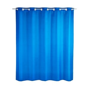 Modrý sprchový záves Wenko Comfort Flex, 180 x 200 cm