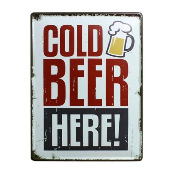 Ceduľa Cold Beer, 30x40 cm