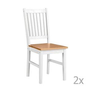 Sada 2 bielych drevených jedálenských stoličiek 13Casa Ginger