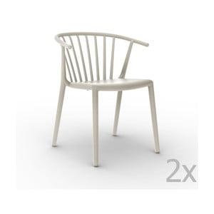 Sada 2 krémových záhradných stoličiek Resol Woody