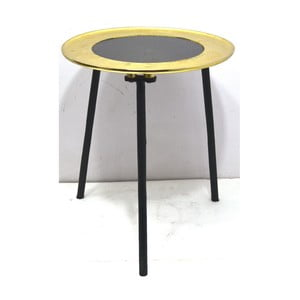 Odkladací stolík s detailom v zlatej farbe Miloo Home Cicero