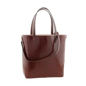 Hnedá kožená kabelka Ore Diece Trapani