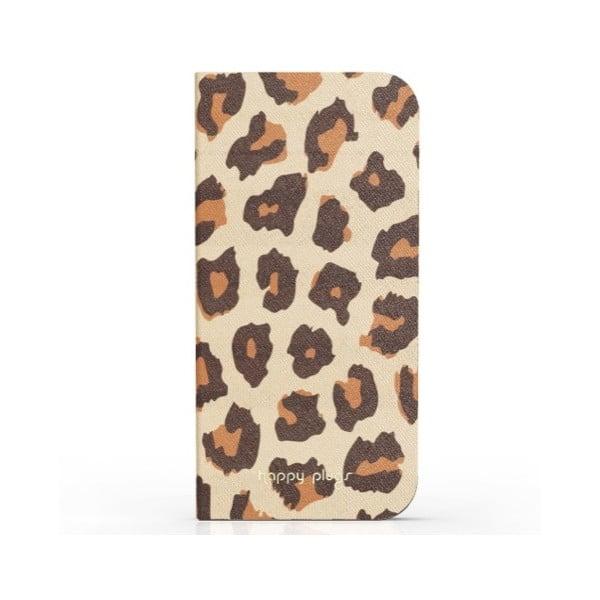 Preklápací obal Happy Plugs na iPhone 5 Leopard
