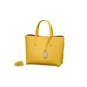 Žltá kabelka z pravej kože Andrea Cardone Dettalgio 1b68442088e