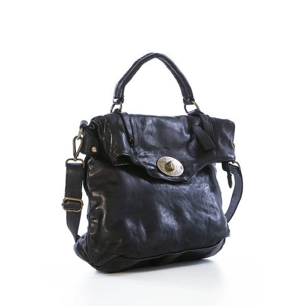 Kožená kabelka Satchel Black