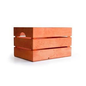 Rustikálna drevená bednička Really Nice Things, oranžová