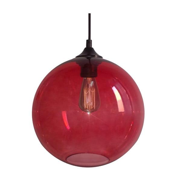 Závesné svetlo Edison, červené