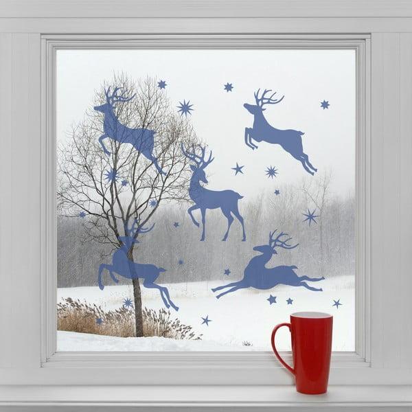 Elektrostatické vianočné samolepky Hviezdni soby
