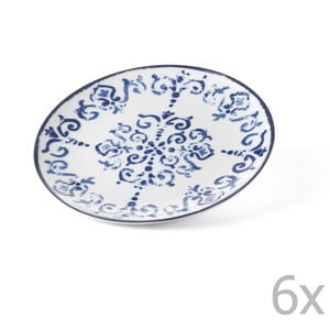 Sada 6 dezertných tanierov Antico Blue, 19.5 cm