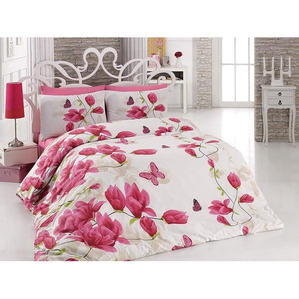 Bavlnené obliečky s plachtou Alize Pink, 200 x 220 cm