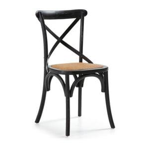 Stolička  Silea, čierna/prírodná