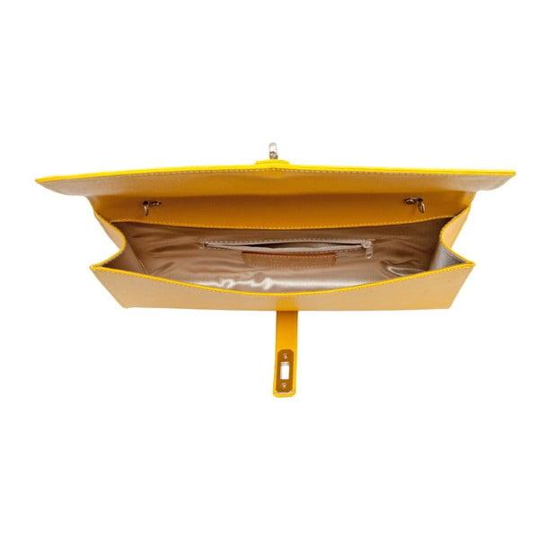 Žltá kožená kabelka Andrea Cardone 1010