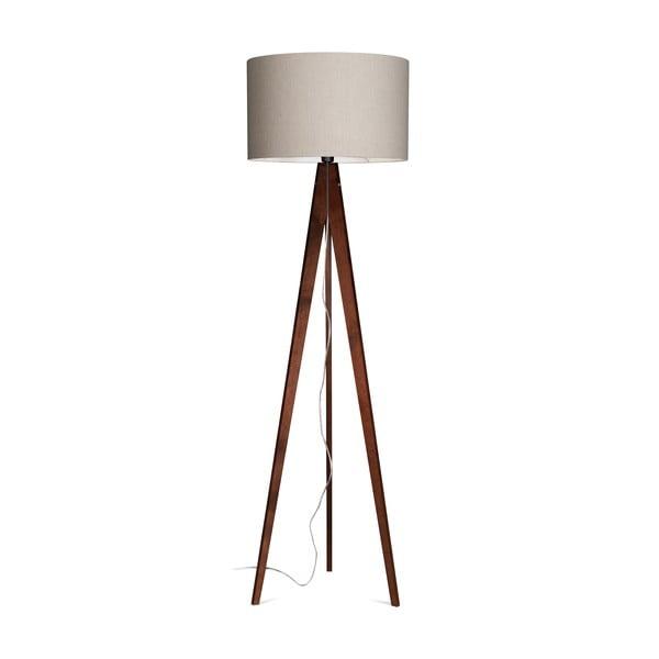 Stojacia lampa Artist Grey Linnen/Dark Brown, 125x42 cm