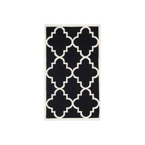 Vlnený koberec Alameda 91x152 cm, čierny