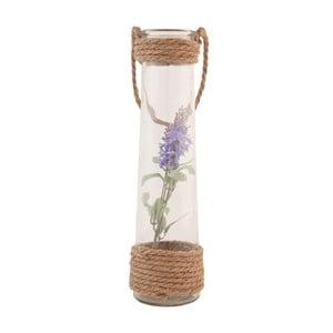 Sklenená váza s umelou kvetinou Clayre, 35 cm