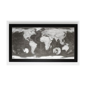 Magnetická mapa sveta The Future Mapping Company Monochrome World Map, 130 × 72 cm
