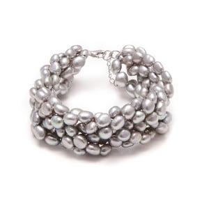 Náramok z riečnych perál GemSeller Linum, strieborné perly