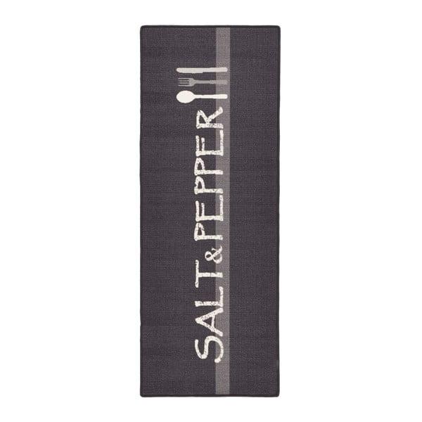 Sivý kuchynský behúň Zala Living Salt & Pepper, 67×180cm