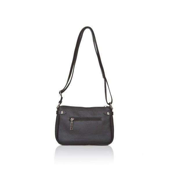 Čierna kožená kabelka Markese Vita