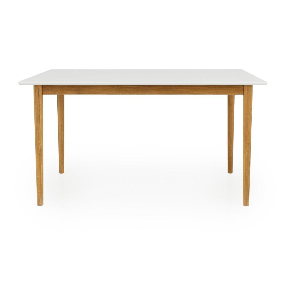 Biely jedálenský stôl Tenzo Svea, 140 x 80 cm