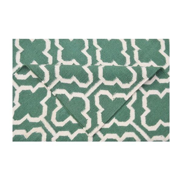 Vlnený koberec Penelope Green Ivory, 125 x 185 cm
