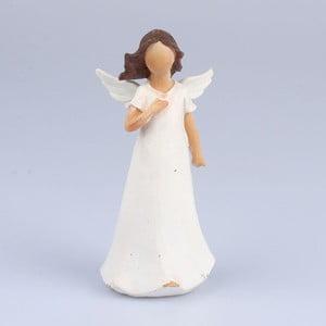 Anjel s dlaňou na hrudi