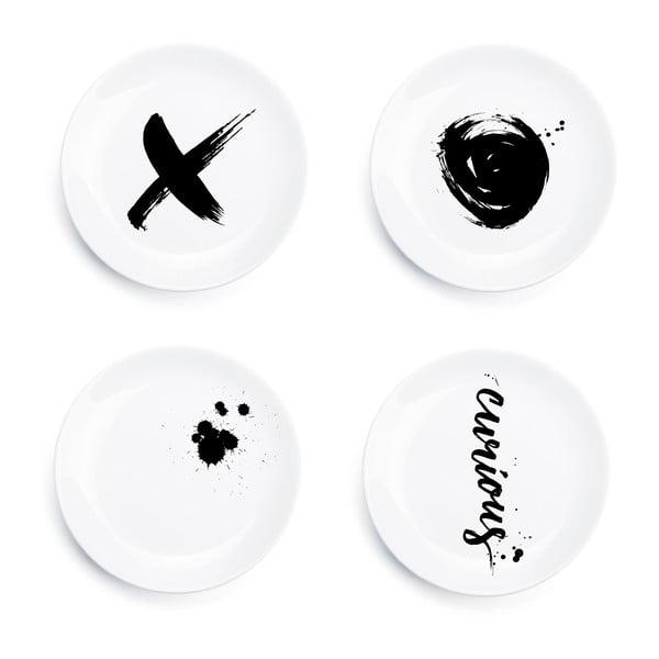 Sada 4 tanierov Ink Plates