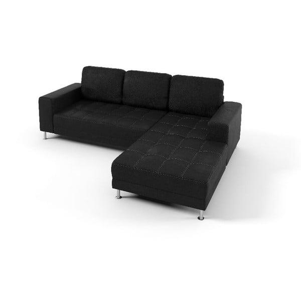 Rohová sedačka Foster, čierna