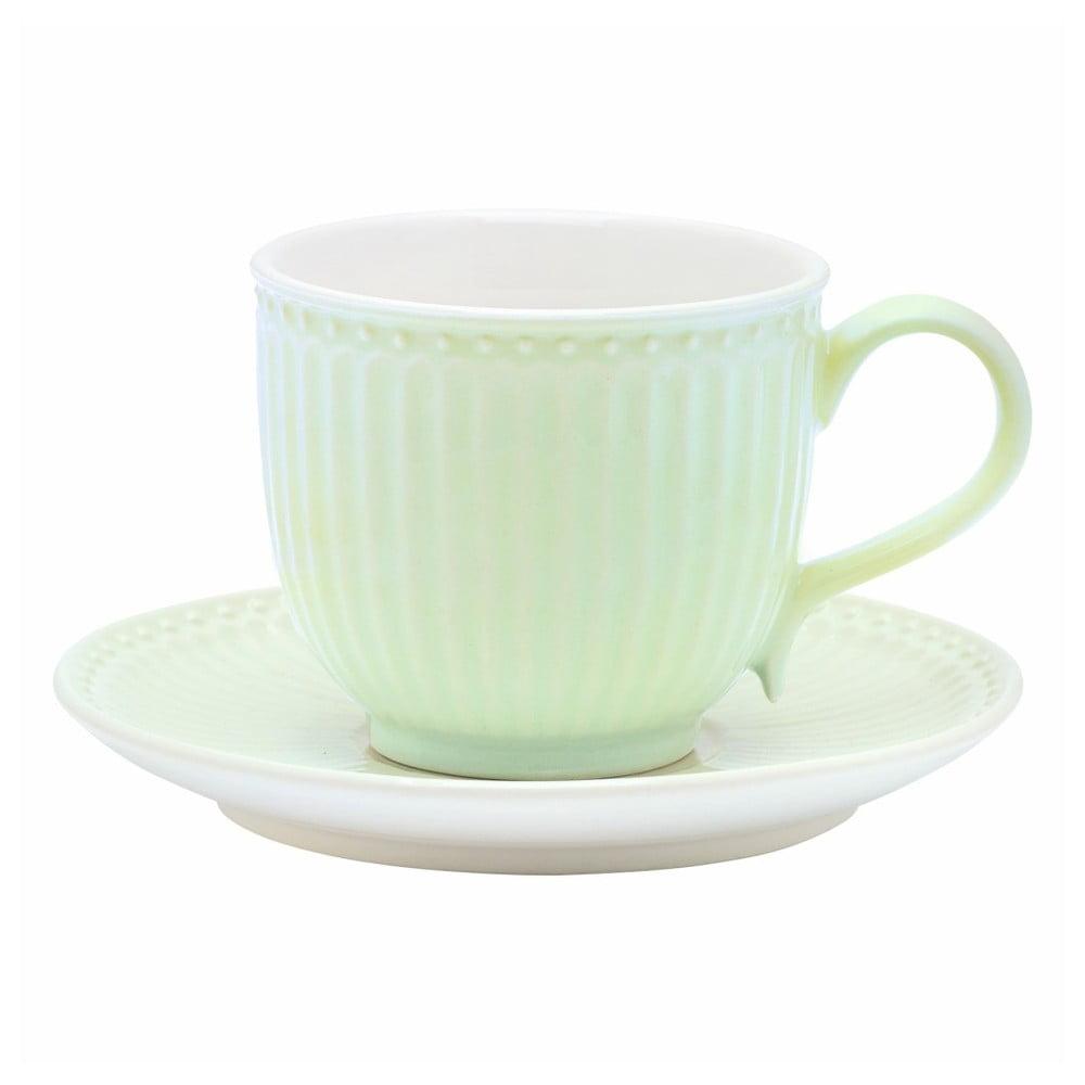Zelený hrnček s tanierikom Green Gate Alice